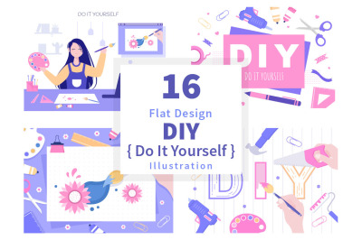 16 DIY Tools Do It Yourself Background