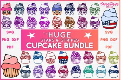 THE HUGE STARS & STRIPES CUPCAKE BUNDLE SVG 34 DESIGNS!