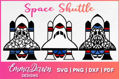 SPACE SHUTTLE SVG 3 Mandala / Zentangle Designs