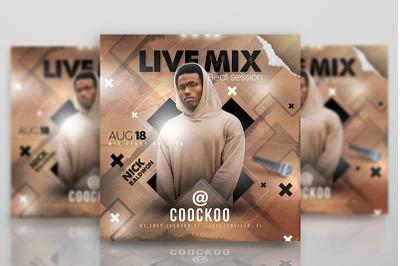 DJ Live Mix Night Flyer