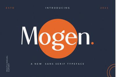 Mogen_a new sans serif typeface-Beautyful san