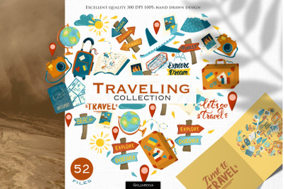Traveling. Graphic collection.
