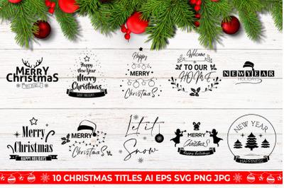 Christmas Titles SVG