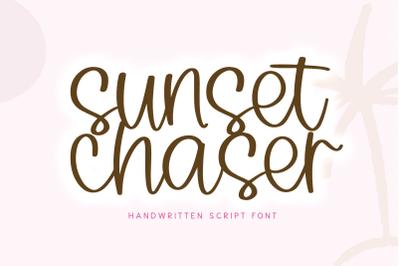 Sunset Chaser - Handwritten Script Font