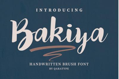 Bakiya | Handwritten Brush Font