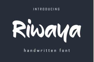 Riwaya | A Handwritten Font