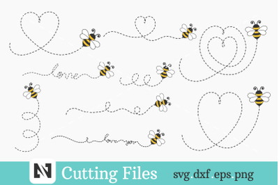 Bee Svg, Bumble Bee Svg, Flying Bee Svg, Cute Bee Svg