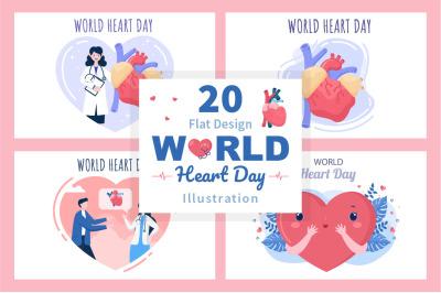 20 World Heart Day Illustration