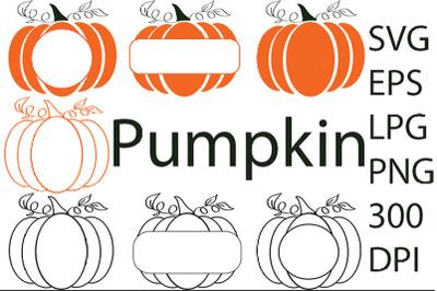 Pumpkin SVG. Frame. SVG. Autumn. Fall.