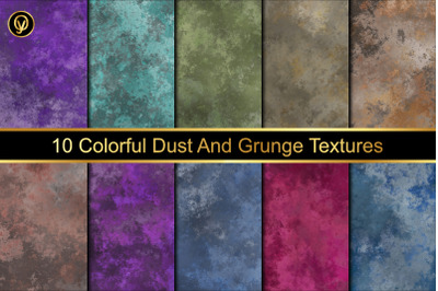 Colorful Dust And Grunge Texture Background