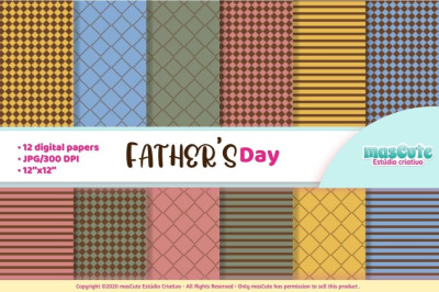 Fathers day digital paper, dad