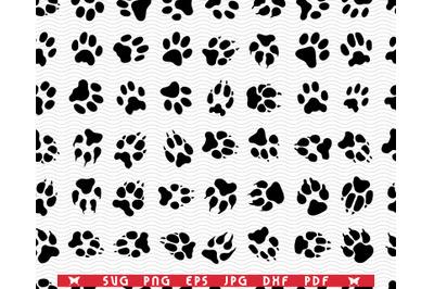 SVG Dog Footprints, Seamless wallpaper, digital clipart