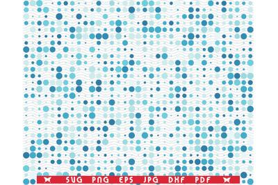 SVG Blue Circles, Seamless pattern digital clipart