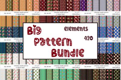 Big bundle Seamless patterns. Christmas,Celebration,Foliage