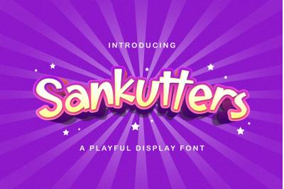 Sankutters - Playful Display Font