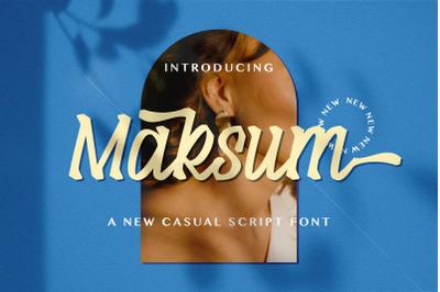 Maksum - Handwritten Font