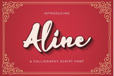 Aline - Handwritten Font