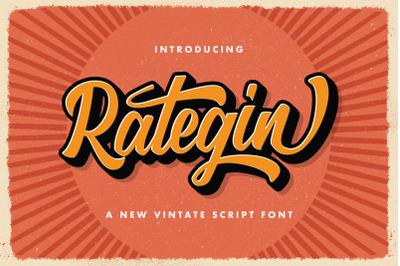 Rategin - Vintage Script Font