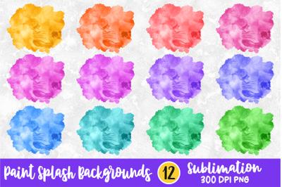 Vibrant Colors Paint Splash Sublimation Background Bundle