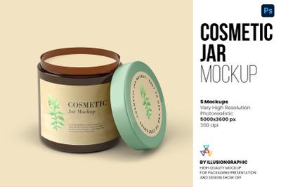 Cosmetic Jar Mockup - 5 views