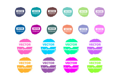 Colorful pastel neon round paint stains for your text and design eleme