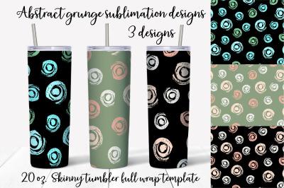 Abstract grunge  sublimation design. Skinny tumbler wrap design.
