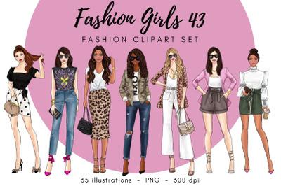 Fashion Girls 43 Fashion clipart set