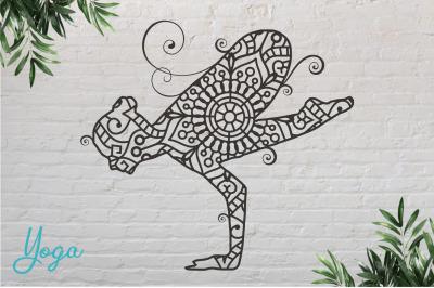 Yoga #6 Paper Cut, Vector illustration.