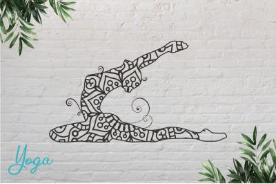 Yoga #7 Paper Cut, Vector illustration.