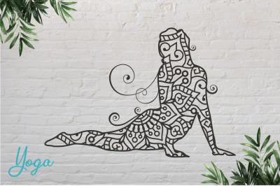 Yoga #9 Paper Cut, Vector illustration.