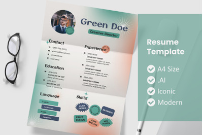 Vol.31 Style Old Resume Template