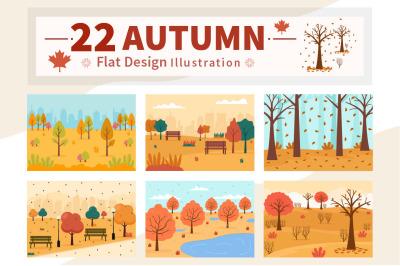 22 Autumn Background Landing Page Illustration