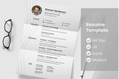 Minimaline Resume Template