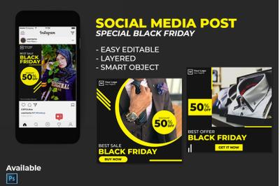 Social Media Black Friday Post Template PSD