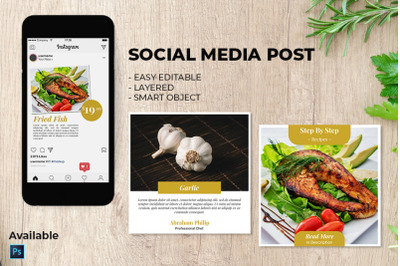 Social Media Food Post Template PSD