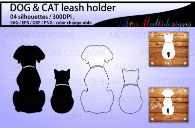 Dog leash holder and Cat leash holder svg