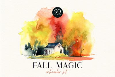 FALL MAGIC Watercolor collecion