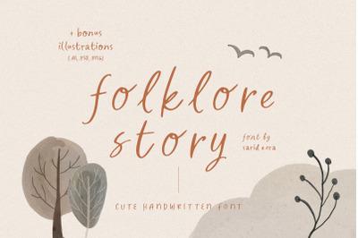 Folklore Story - Cute Font (+BONUS)
