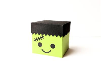 Halloween Frankenstein's Monster Cube Box | SVG | PNG | DXF | EPS