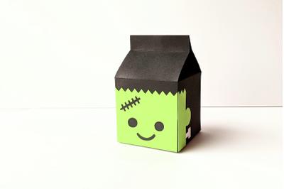 Frankenstein's Monster Milk Carton Box | SVG | PNG | DXF | EPS