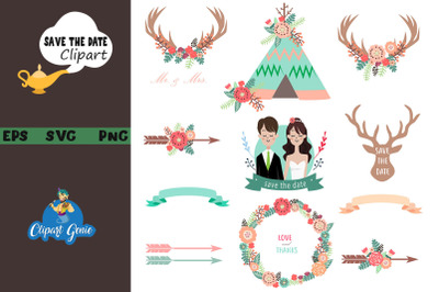 Save the date clipart & SVG