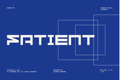 GR Fatient - Modern Typeface