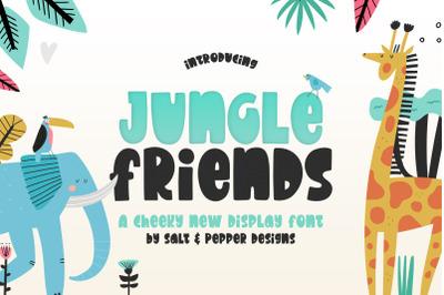 Jungle Friends Font (Procreate Fonts, Kids Fonts, Animal Fonts)