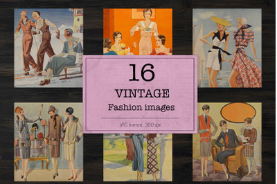 Vintage ladies fashion digital paper