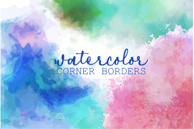 Watercolor Page Border Splashes