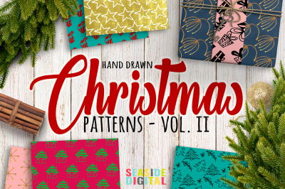 Hand Drawn Christmas Patterns II