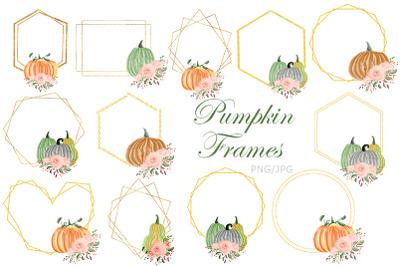 Pumpkin Frames. Frame. Autumn. Fall.
