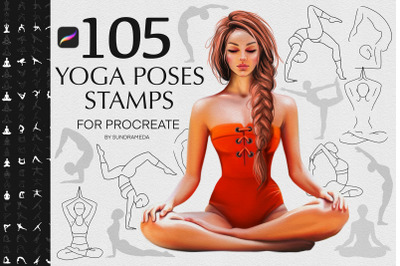 Yoga Body Poses Stamps for Procreate