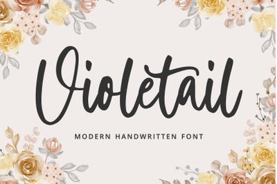 Violetail Modern Handwritten Font