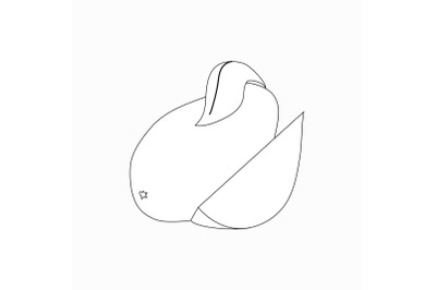 Mango icon, isometric 3d style